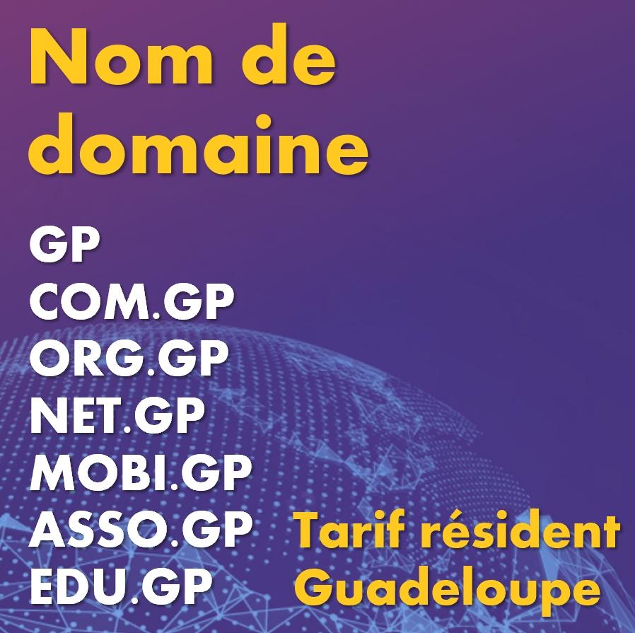 Nom de domaine Guadeloupe .gp